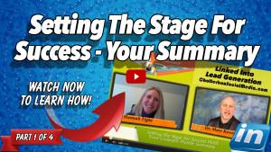 Setting Stage Success LinkedIn Summary - Hannah Tighe